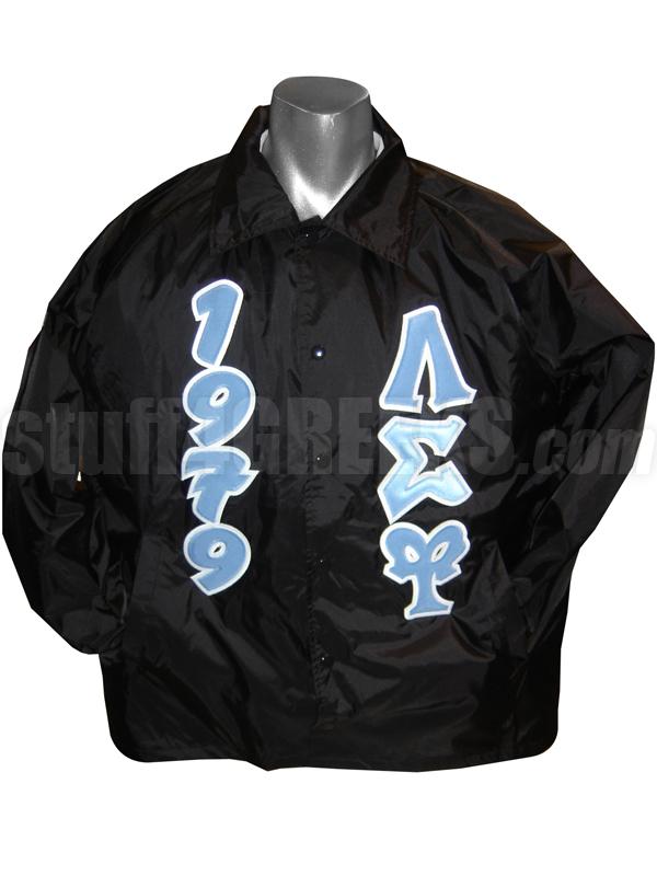 Lambda Sigma Upsilon Greek Letter Line Jacket With Founding Year Black