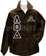 Lambda Theta Delta Greek Letter Line Jacket with Crest, Brown