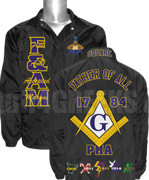 Deluxe Mason Line Jacket with Embellished Square & Compasses and