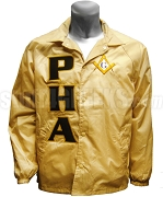 Prince Hall Mason Letter Line Jacket with Square & Compass, Tan