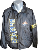 Free & Accepted Mason Logo Line Jacket with Words Stitched Thru, Black