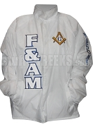 Free & Accepted Mason Square & Compass Line Jacket, White