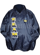 Free & Accepted Mason Split Letter Line Jacket with Logo, Navy