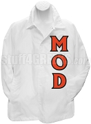 Men of D.I.S.T.I.N.C. Line Jacket with Letters, White