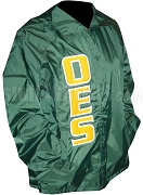 Order of the Eastern Star Turtle Club Line Jacket with Letters, Green