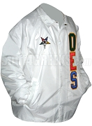 Order of the Eastern Star Line Jacket with Fatal Star and Letters, White