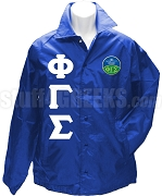 Phi Gamma Sigma Greek Letter Line Jacket with Crest, Royal Blue