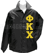 Phi Kappa Chi Greek Letter Line Jacket, Black