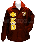 Phi Kappa Theta Greek Letter Line Jacket with Crest, Crimson