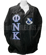 Phi Nu Kappa Greek Letter Line Jacket with Crest, Black