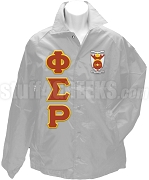 Phi Sigma Rho Greek Letter Line Jacket with Crest, Gray
