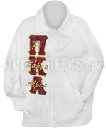 Pi Kappa Alpha Greek Letter with Strike Thru Letters Line Jacket, White