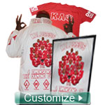 The Platinum Crossing Jacket: Includes Enhanced Letters, Sleeves, Collar, Back, Artwork on Back, Digitizing, Unlimited Icons and Monograms, Matching T-Shirt, Matching Frame, Garment Bag, Rush Production, and More
