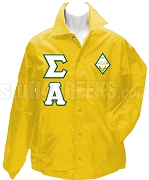 Sigma Alpha Greek Letter Line Jacket with Crest, Gold
