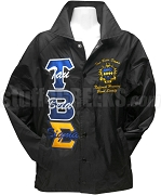 Tau Beta Sigma Line Jacket with Organization Name Thru Greek Letters and Crest, Black