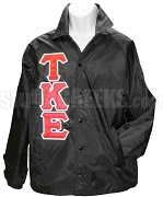 Tau Kappa Epsilon Line Jacket with Greek Letters, Black