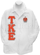Tau Kappa Epsilon Line Jacket with Greek Letters and Crest, White