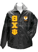 Theta Chi Psi Greek Letter Line Jacket with Crest, Black
