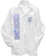 Theta Nu Xi 1997 Greek Letter Line Jacket with Crest, White
