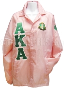 Alpha Kappa Alpha Greek Letter Line Jacket with Crest, Pink
