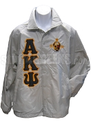 Alpha Kappa Psi Greek Letter Line Jacket with 1904 Crest, White