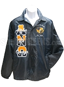 Alpha Nu Omega 1988 Crest Line Jacket with Letter Thru Split Greek Letters, Navy