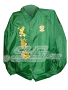 Chi Eta Phi Ironhorse Greek Letter Line Jacket with Flowers Thru Greek Letters and Crest, Green