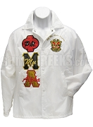 Phi Mu Alpha Multicolor Greek Letter Line Jacket with Letters Thru and Crest,White