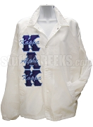 Kappa Alpha Kappa Greek Letter Line Jacket with Letters Thru, White