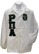 Rho Pi Alpha Greek Letter Line Jacket with Crest, White