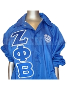 Zeta Phi Beta Royal Blue Crossing/Line Jacket with Letters and Crest
