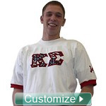 Custom Greek Crossing Jersey - Fraternity and Sorority Line Jersey