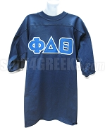 Phi Delta Theta Crossing Jersey with Greek Letters, Royal Blue/White
