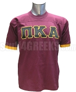Pi Kappa Alpha Crossing Jersey with Greek Letters, Maroon/Gold