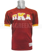 Pi Kappa Alpha Crossing Jersey with Split Greek Letters, Cardinal Red/Gold
