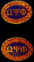 Omega Psi Phi Jeweled Cufflinks
