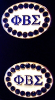 Phi Beta Sigma Jeweled Cufflinks