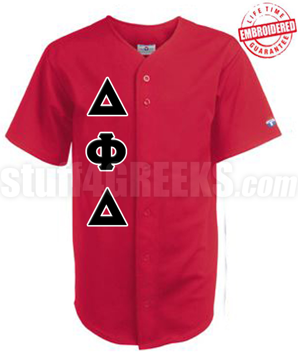 sale retailer be0cf 19266 Custom Greek Cloth Baseball Jersey with Greek Letters Included (TW) -  EMBROIDERED WITH LIFETIME GUARANTEE