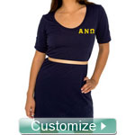 Custom Embroidered T-shirt Dress
