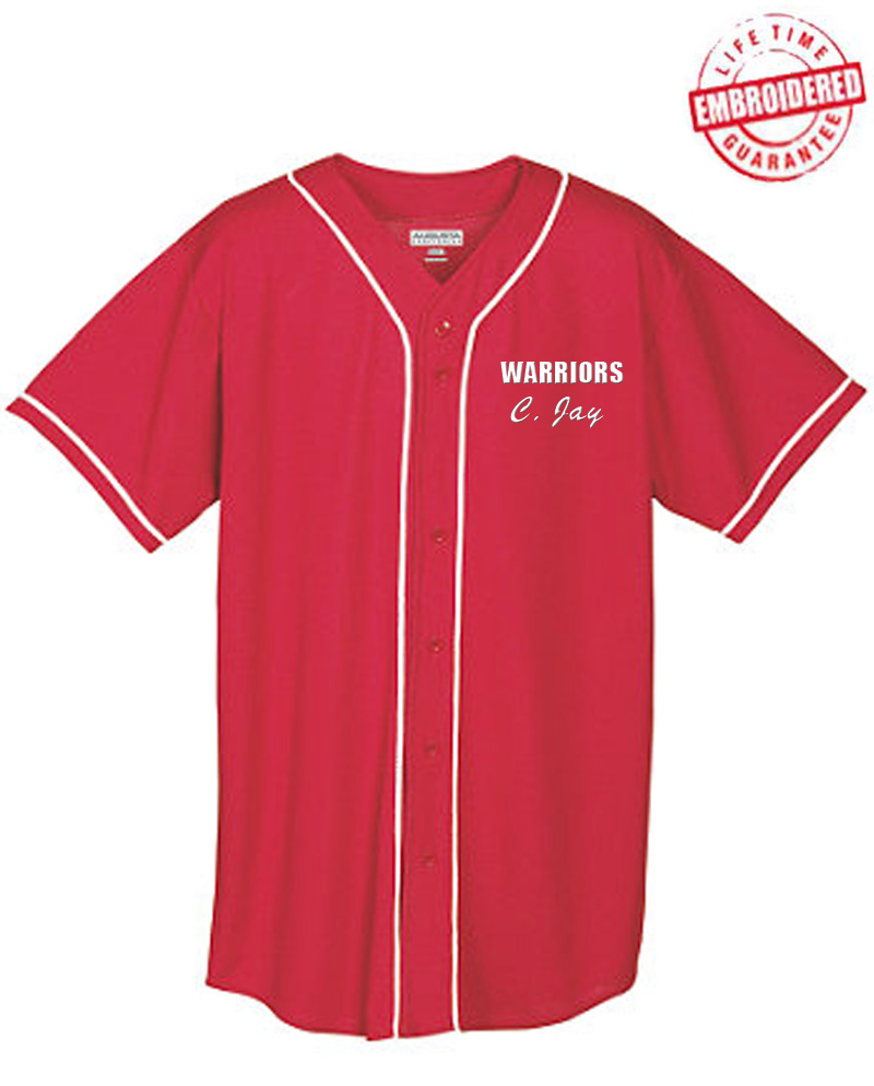 first rate b4dfa 84037 Personalized Embroidered Cloth FratBrat Baseball Jersey - EMBROIDERED with  Lifetime Guarantee (AUG)