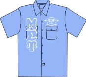 Mu Sigma Upsilon Light Blue Dickies Shirt