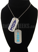 Alpha Beta Sigma Dog Tags - Double with Founding Year