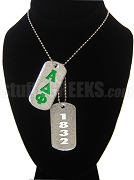 Alpha Delta Phi Dog Tags - Double with Founding Year