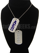 Alpha Epsilon Omega Dog Tags - Double with Founding Year