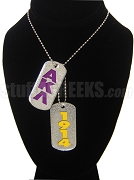 Alpha Kappa Lambda Dog Tags - Double with Founding Year