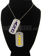 Alpha Nu Omega Tags - Double with Founding Year