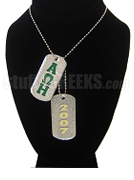 Alpha Omega Eta Dog Tags - Double with Founding Year
