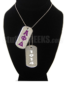 Alpha Phi Delta Dog Tags - Double with Founding Year