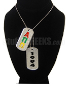 Alpha Pi Omega Dog Tags - Double with Founding Year