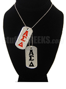Alpha Sigma Delta Double Dog Tags